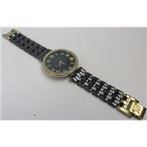 Anne Klein AK/2130 Crystal Accented Dial W/ Gold-Tone / Black Band Women's Watch