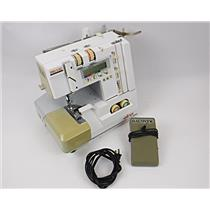 Elna Lock Pro 5 DC Overlocker Serger Sewing Machine Broken Spool