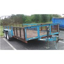 2002 Year Triple Crown Trailer Co. Blue Trailer - LOCAL PICK-UP ONLY