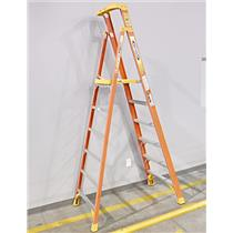 Werner PD6208 Aluminum 6-Foot Podium Ladder Aluminum Fiberglass