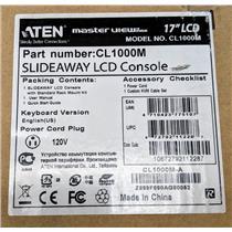 "Aten CL1000M 17"" LCD Slideaway Console w/ Rack Mount Kit KVM USB Rack Console"