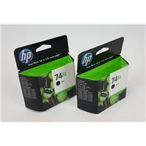 Lot of 2 Genuine OEM HP 74XL Black Inkjet Cartridge Expiration Dec 2012