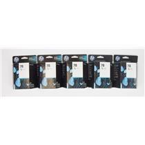 Lot of 5 Genuine OEM HP 78 InkJet Cartridges Tri-Color