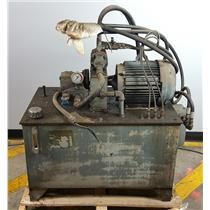Lincoln 10 HP AC Motor with Vickers Hydraulic Pump and Tank UNTESTED