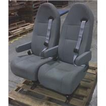 Generic Grey Bucket Bench Seats On Dual Mount