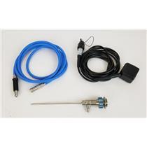Dyonics REF 3626 4mm 30° Video Arthroscope w/ Camera Head & Light Cord UNTESTED