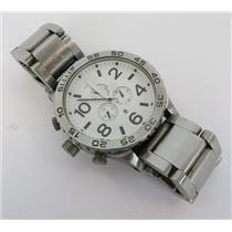 Nixon A083100 THE 51-30 CHRONO Silver-Tone Men's 30 ATM Bracelet Watch