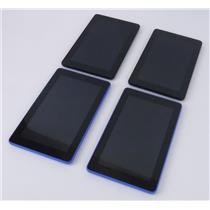 "Lot of 4 Amazon Kindle Fire SV98LN 5th Generation 7"" Tablet 2x Blue 2x Black"