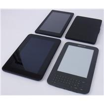 Lot of 4 Amazon Kindle Tablets Keyboard 3 Basic 2 Fire HD7 Fire 7