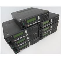 Lot Of 7 Motorola MCS2000 M01HX-812W M01UGL6PW4BN Radios POWER ON TEST ONLY