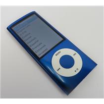 Apple iPod Nano A1320 MC037LL 5th Gen Blue 8GB Media Player TESTED & WORKING