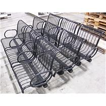 "Lot of 3 Landscapeforms Tube Steel Benches 35"" x 72"" x 24"" - LOCAL PICKUP"