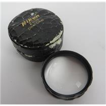 Nikon 20 D Clear Coat Optometry Ophthalmoscope Aspherical Indirect Lens W/ Case
