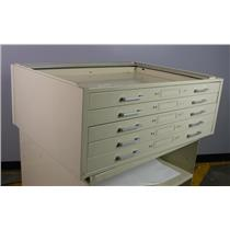 Five Drawer Filing Cabinet Blueprints Maps  Flat File NO TOP