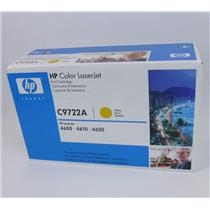 New Genuine HP C9722A Yellow Toner Cartridge for Color Laserjet