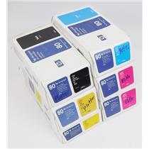 Lot of 5 SEALED HP Designjet Ink Cartridges Yellow Cyan Magenta Black EXPIRED