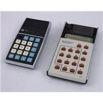 Lot of 2 Vintage Calculators Rockwell 8R & Texas Instruments TI-1500 - FOR PARTS