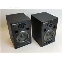 Roland DM-10 Pair of Digital Monitor Speakers TESTED & WORKING