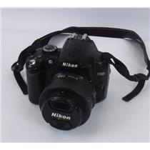 Nikon D5000 Digital SLR Camera Nikon DX AF-S 35mm Lens - TESTED WORKING