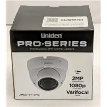 Uniden Professional 2-MP Tamperproof Coax Vaifocal Dome Camera 2MED-VF-BNC