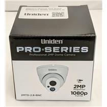 Uniden Professional 2.0-Megapixel Coax Tamperproof Dome Camera 2MTD-2.8-BNC