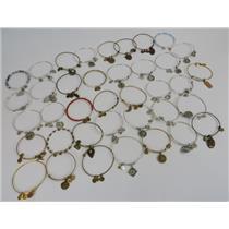 Lot Of Alex & Ani Gold / Silver / Copper-Tone Jewelry 38 Bracelets W/ Charms