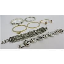 Lot Of 7 Designer Bracelets - Kendra Scott - Michael Kors & Brighton
