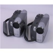 Lot of 2 Canon Elura100 A Mini DV Digital Video Camcorder - TESTED WORKING
