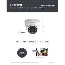 1080p HD Professional 2-Megapixel Coax Tamperproof Dome Camera 100' Night Vision