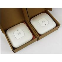 Lot of 2 Cisco AIR-LAP1142N-A-K9 Aironet Wireless Access Point FACTORY RESET