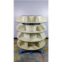 Steel Rotating 55x55 4 Tier Rotating Book Display w Separators