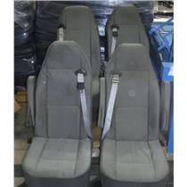 Lot of 4 Ford Van Grey Bucket Seats 2x On Dual Mount 2x Single - USED