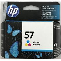 Brand New OEM HP C6657AN 57 Tri-Color Ink Cartridges 500pgs Sealed Box