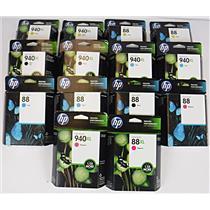 Lot of 14 NEW Genuine OEM HP High Capacity Inkjet Cartridges - EXPIRED