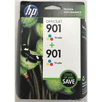 HP 901 Officejet Tri-color Twin pack CZ076FN