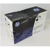 NEW NIB Genuine OEM HP 51A Q7551A Black Print Cartridge - Damaged Box