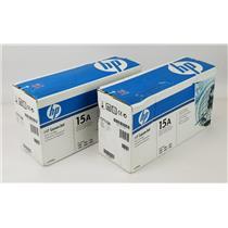 NEW NIB Lot of 2 Genuine OEM HP 15A C7115A Black Print Cartridge
