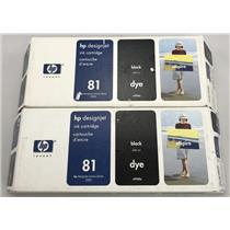 HP DesignJet 81 Black Dye Ink Cartridge C4930A