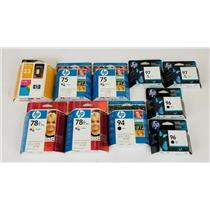 Lot of 10 Genuine OEM HP Ink Cartridges - Expired