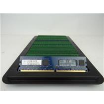 LOT 100 Desktop Ram 1GB DDR2 Assorted Brands and Speed