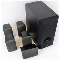 Yamaha Stereo Speakers Set  SW-201 Subwoofer NS-AP280 Shelf Speakers
