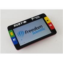 Freedom Scientific Ruby Handheld Low Vision Video Magnifier TESTED & WORKING