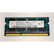 Hynix 2GB PC3-10600 DDR3-1333 nonECC Unbuffered SODIMM 1.5V HMT125S6TFR8C-H9