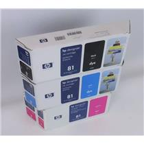 Lot of NEW HP 680ml Ink Cartridges C4931A C4992A C4930A Printhead and Cleaner