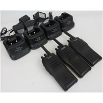 Lot Of 3 icom IC-F21 UHF 16 Channel Portable Two-Way Radios W/ Chargers