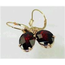 E107, Mozambique Garnet, 14k Gold Earrings