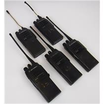 Lot of 5 Motorola AAH25SDC9AA2AN HT750 Two Way Handheld Radio PARTS NOT WORKING