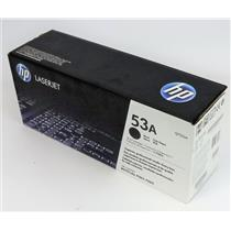 New NIB Genuine OEM HP Q7553A LaserJet 53A Black Print Cartridge