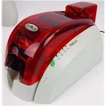 Evolis Pebble 3 MAG 300dpi Dye SUB Thermal ID Color Card Badge Printer POWERS ON