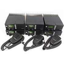 Lot of 6 EF Johnson 242-9843-633 400-512MHz Two-Way Radios - FOR PARTS